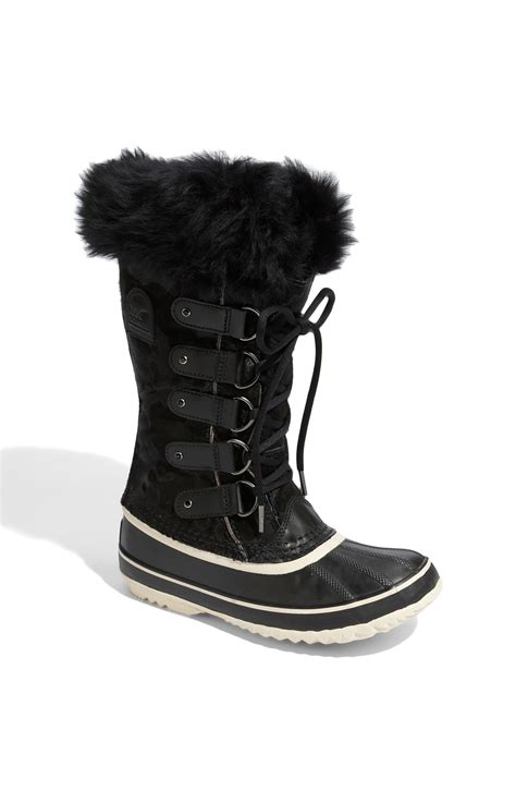 joan of arctic sorel boots sorel joan of arctic boot in black lyst