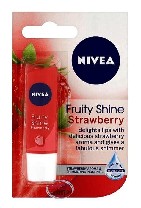 Lipice Nivea Fruit Shine Murah nivea fruity shine strawberry lip balm spf10 lip care 4 8g