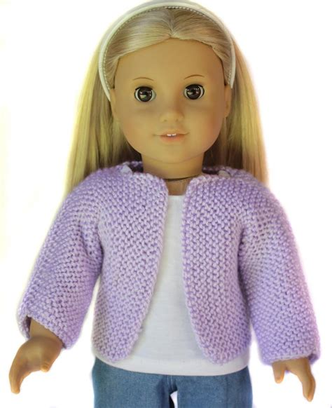 18 inch doll clothes knitting patterns beginner knit sweater for 18 inch dolls knitting pattern