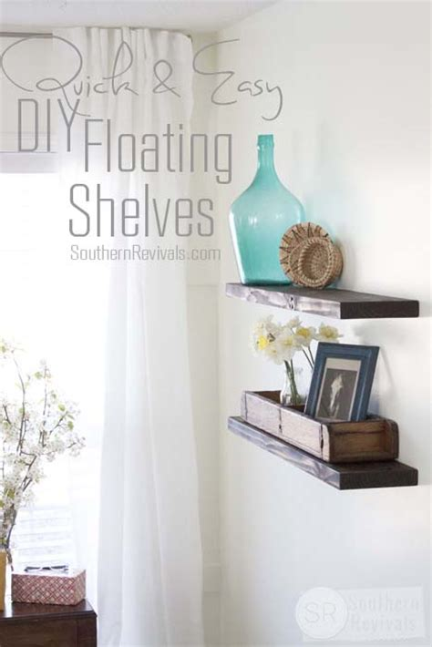 easy budget friendly diy floating shelves