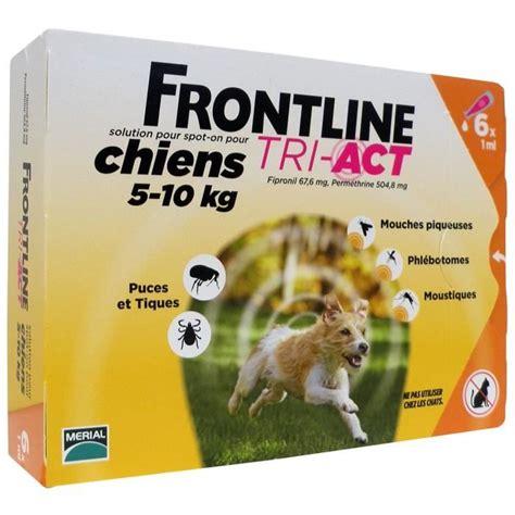 Detick 1 Ml 1 10 Kg frontline tri act 6x1ml pour chien de 5 10kg achat
