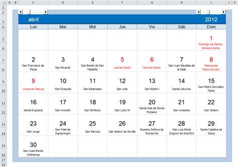 Calendario Con Santoral Excel Pr 225 Ctico Para Todos Calendario Con Fiestas