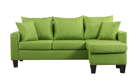 green small sofa modern linen fabric small space sectional sofa w