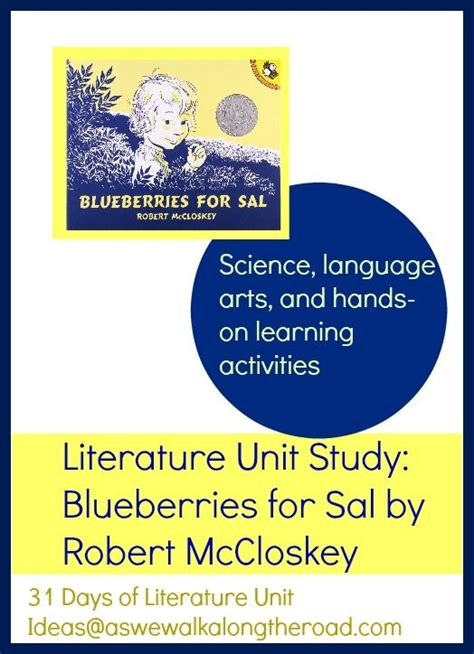 themes for literature units literature unit study ideas for blueberries for sal by