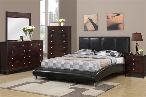 Curved Footboard Bed by Wooden Faux Leather Bed With Curved Footboard By