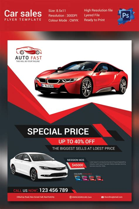 car flyer template sales flyer template 61 free psd format free