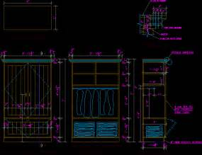 details wardrobe in autocad drawing bibliocad