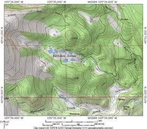 indian creek trail map colorado protrails rainbow lakes trail map rainbow lakes