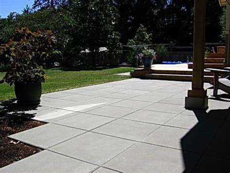 Large Paver Patio by Square Pavers Patio Backyard Patio Deck Ideas