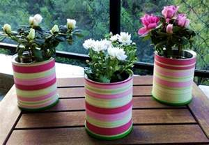 Christmas Decorations For Table Centerpieces - 20 tin can craft ideas flower vases and plant pots