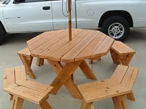 hexagon picnic table plans build plans