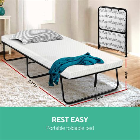 Portable Beds by Artiss Portable Folding Bed Foldable Single Mattress