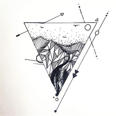 geometric tattoo raleigh triangle mountain tattoo design just finished if anyone