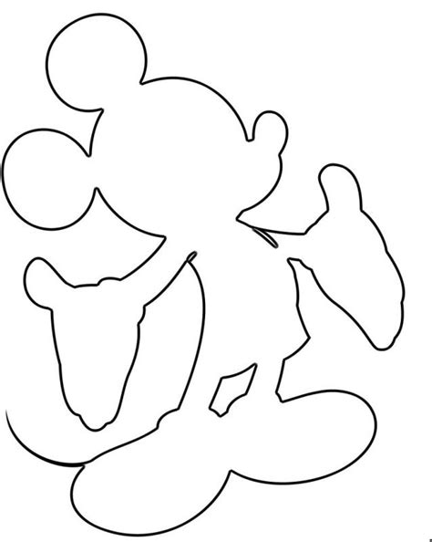 mickey mouse silhouette template outline of mickey mouse cliparts co