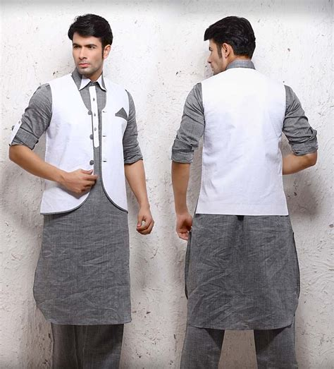 design for mankind men salwar kameez with matching design wasket style