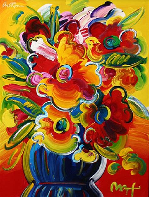Max Vase Of Flowers by Max Flower Vase Original Acrylic On Canvas Pop