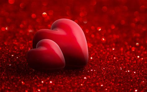 3d wallpaper valentine download wallpapers 3d red heart red bright background