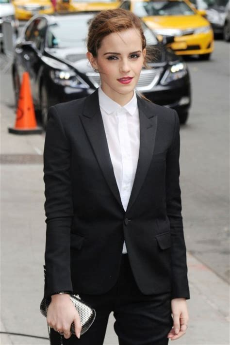 emma watson in suit emma watson gets in the circle with tom hanks and james