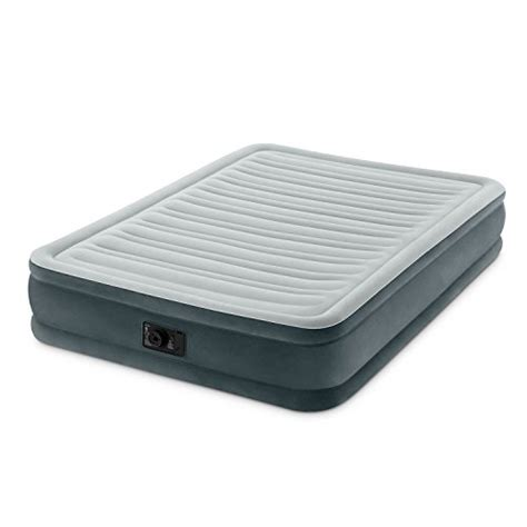 intex comfort intex comfort plush mid rise dura beam airbed with built