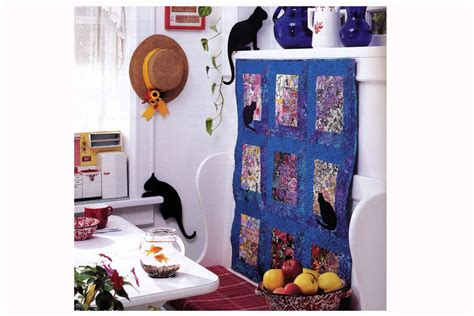 watercolor quilt pattern with cats and butterflies watercolor quilt pattern with easy mitered windows