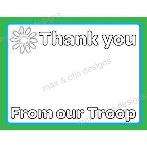 scout thank you card template 79 best images about max otis designs printable
