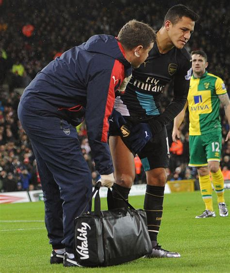 alexis sanchez knee injury arsene wenger challenges arsenal stars to cope without