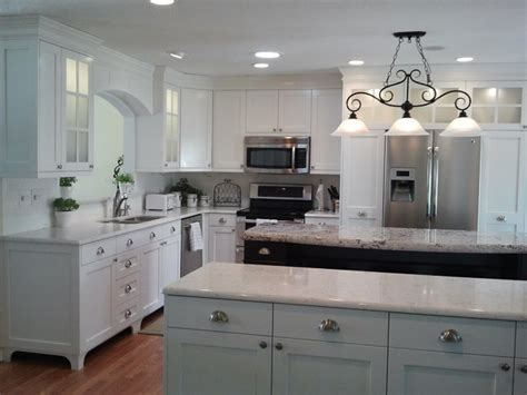 Mission Cabinets Kitchen White Painted Traditional Mission Style Cabinets