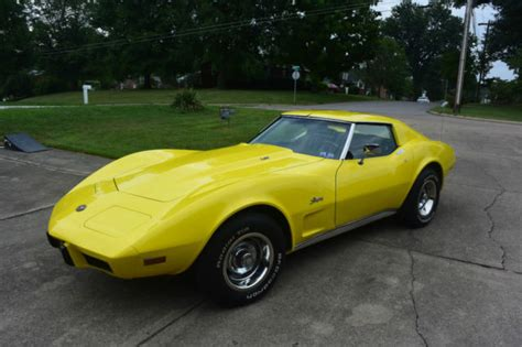 Sell Used 1975 Chevrolet Corvette Stingray Coupe T Tops Restored In Elkhart Indiana United Chevrolet Corvette Coupe 1975 Yellow For Sale 1z37t5s432143 1975 Corvette Stingray T Tops 350