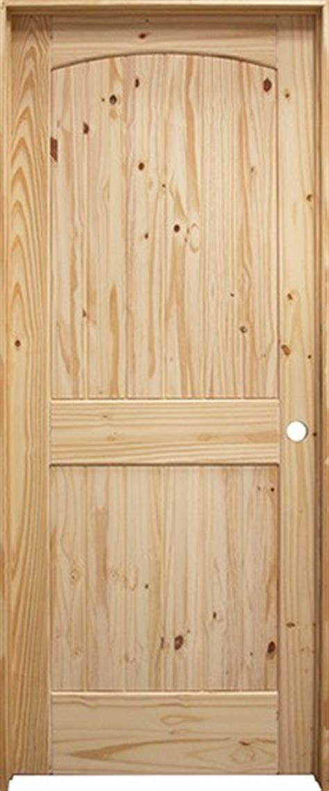 Cheap Pine Doors Interior 28 Quot 36 Quot 6 8 Quot 2 Panel Arch V Groove Knotty Pine Interior Prehung Wood Door Unit House