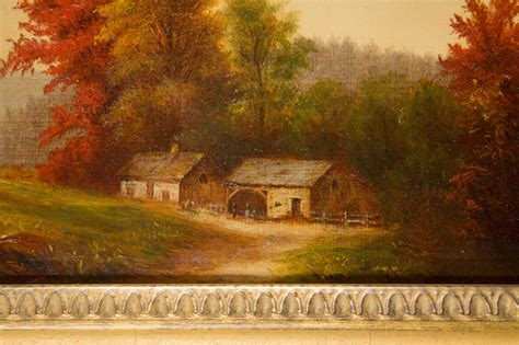 decorative painting in england new england fall farm scene painting