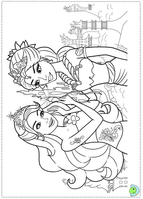 barbie in a mermaid tale coloring page dinokids org