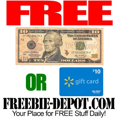 Redeem Walmart Gift Card For Cash - free 10 cash or 10 walmart gift card freebie depot