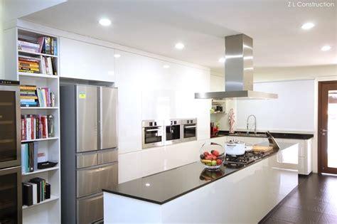 construction singapore kitchen island  black  white kitchen home decor home