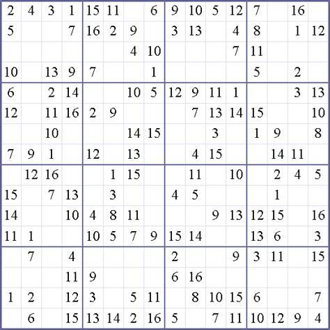 printable sudoku 16x16 numbers 16 x 16 sudoku related keywords 16 x 16 sudoku long tail