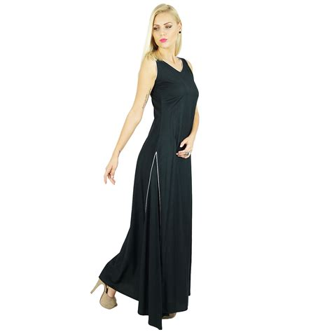 Maxi Rayon Black bimba dress rayon black maxi gown bohemian