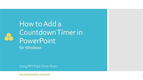 Embed Countdown Timer In Powerpoint Slide Countdown Timer For Ppt