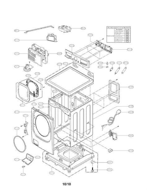 lg front load washer parts diagram lg front load washer parts diagram 1 enchanting depiction
