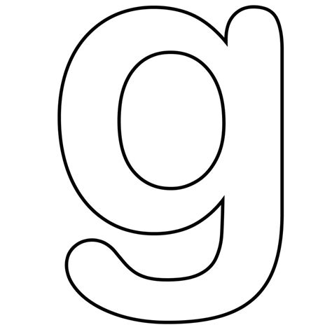 Lowercase G Coloring Page by Letter G Clip Clipart Best