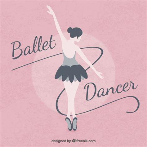 ballerina background ballet ballerina on a pink background in flat design