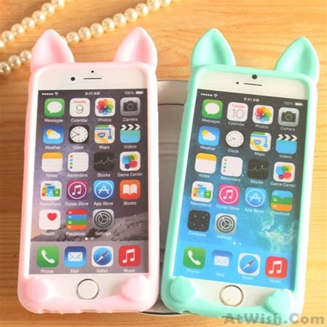 Sale Soft Iphone 4 4s 5 5s 6 6s 6 6s Samsung Grand Pri cat ears lovely animals iphone 4 4s 5c 5 5s 6 6p cases