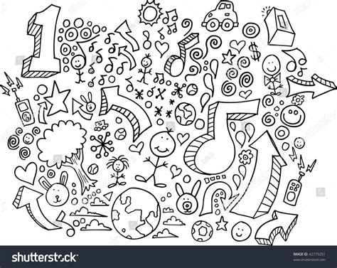 doodle and draw set doodle sketch drawing vector set 42779251