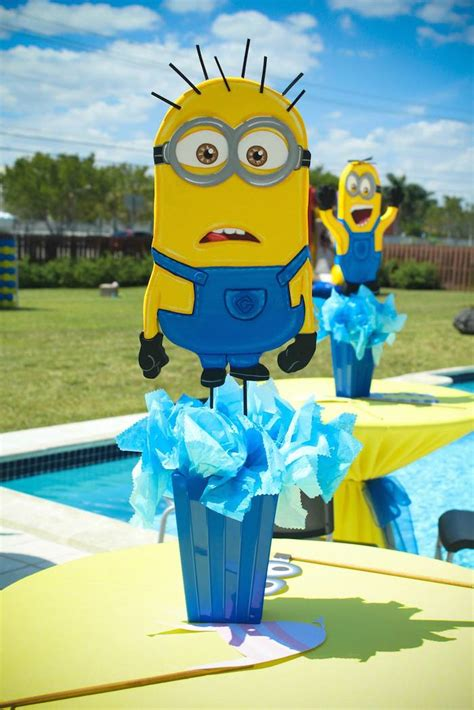 Minion Table Decorations kara s ideas despicable me minion themed birthday