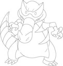 pokemon coloring pages sandile krookodile pokemon coloring page free printable coloring