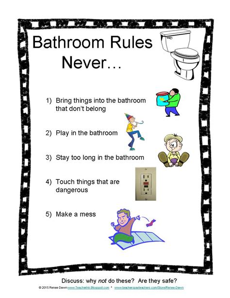 bathroom safety tips teacher ink bathroom rules for kids