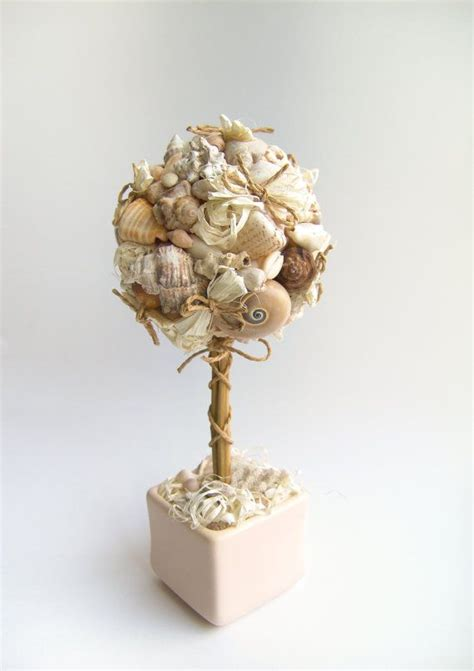 seashell topiary tree home decor