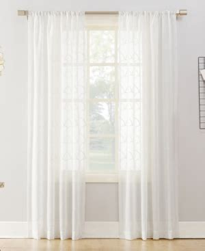 Romantic french style curtain sheers simply filtering light or beautifully embroidered