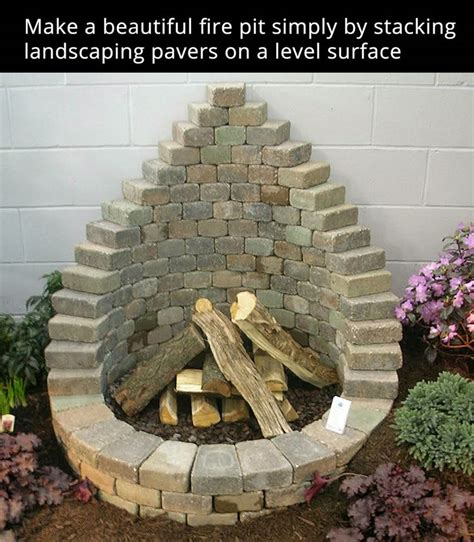 pit made out of pavers 25 best ideas about outdoor pits on