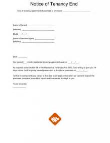 Ending Tenancy Letter From Landlord End Of Tenancy Letter Templates