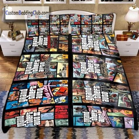 grand theft auto  series bedding set blanket sheets