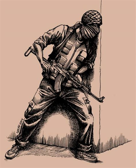 palestinian guerrilla by latuff2 on deviantart